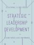 Strategic Leadership Development   by Chris Roebuck