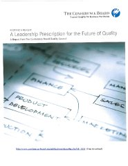 Report: Leadership Perscription for the Future of Quality  by Mike Adams