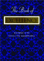 The Book of Excellence by Byrd Baggett CSP